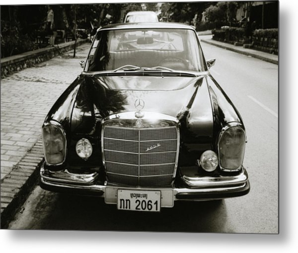 Mercedez Benz Metal Print
