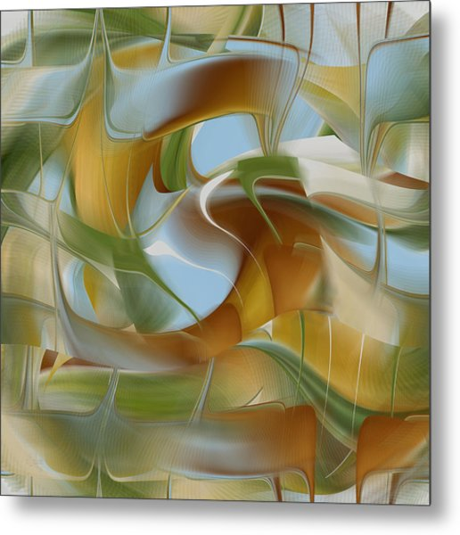 Merging Flow Metal Print