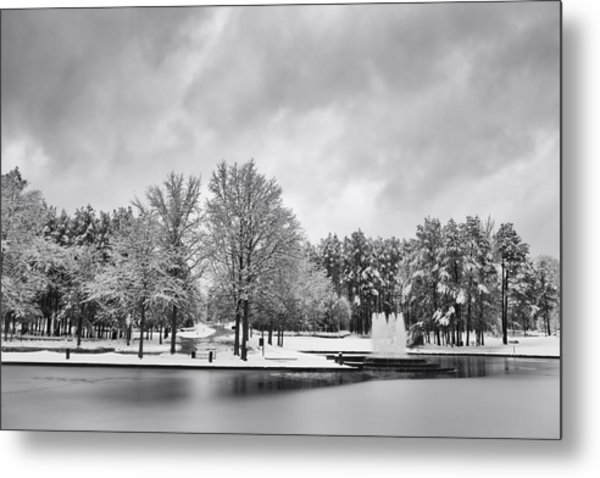 Meridian Parkway Winter Metal Print