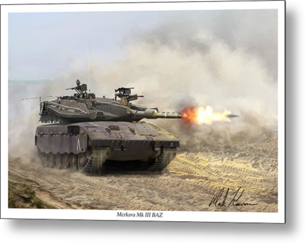 Merkava Mk IIi Baz Metal Print by Mark Karvon