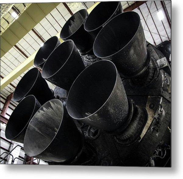 Merlin Engines On Falcon 9 Rocket From Spacex Metal Print by Spacex/science Photo Library