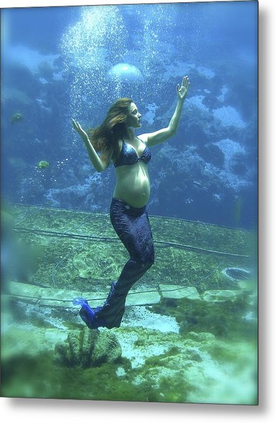 Mermaid Madonna Metal Print