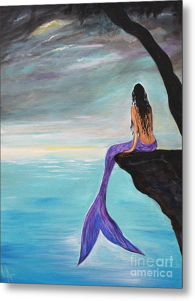 Mermaid Oasis Metal Print