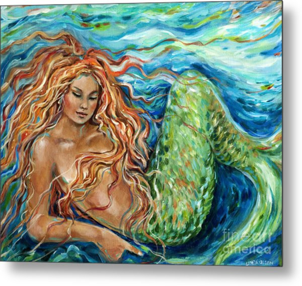 Mermaid Sleep New Metal Print