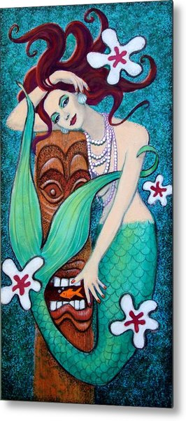 Mermaid's Tiki God Metal Print