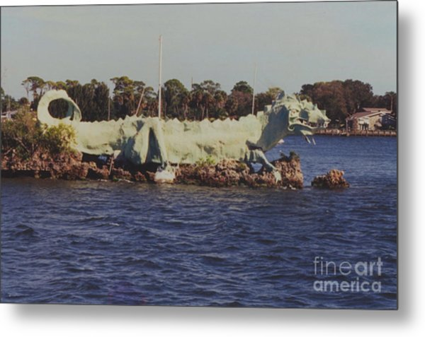 Merritt Island River Dragon Metal Print