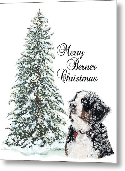 Merry Berner Christmas Metal Print