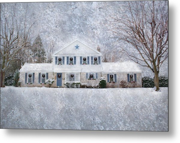 Wintry Holiday Metal Print