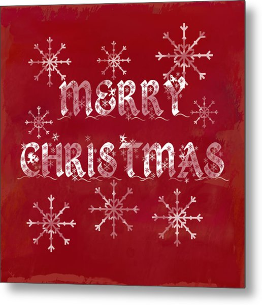 Metal Print featuring the painting Merry Christmas by Jocelyn Friis