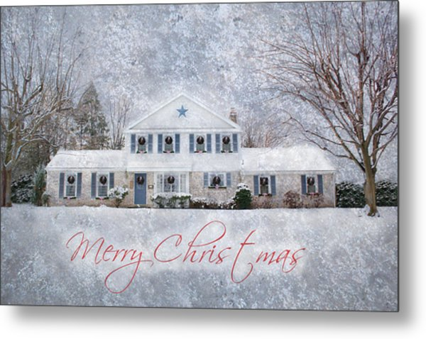 Wintry Holiday - Merry Christmas Metal Print