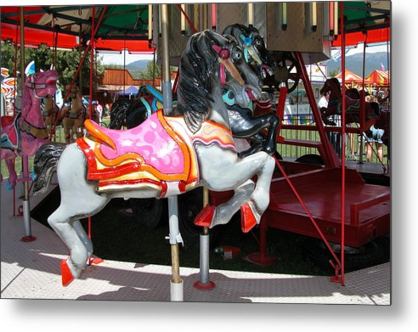 Merry-go-round Horse Metal Print