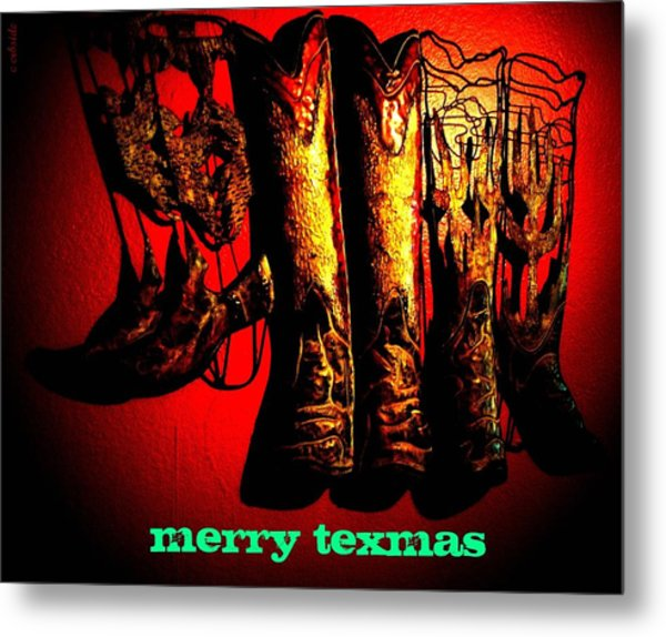 Merry Texmas Metal Print