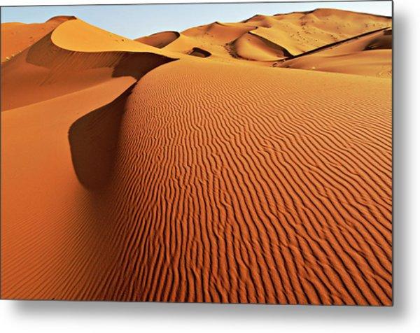 Merzouga Sand Dunes, Sahara Metal Print