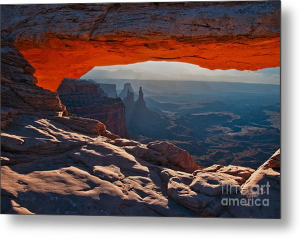 Metal Print featuring the photograph Mesa Arch  by Mae Wertz