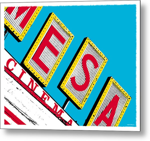 Mesa Cinema Metal Print