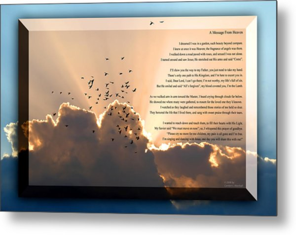 Message From Heaven Metal Print