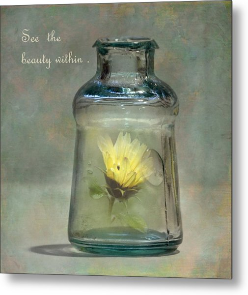 Message In A Bottle Metal Print