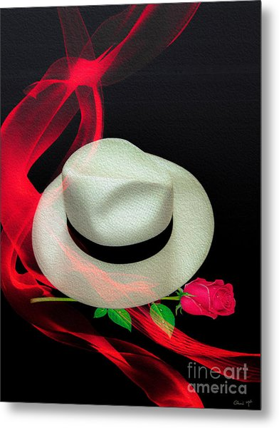 Message In A Hat Metal Print