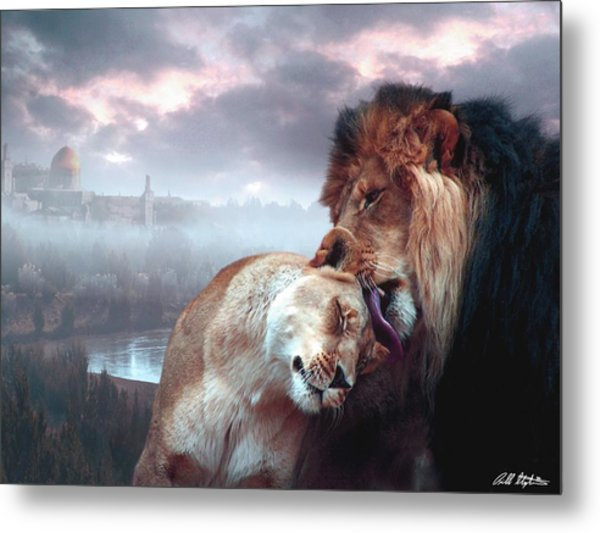 Yeshua Loves Israel Metal Print