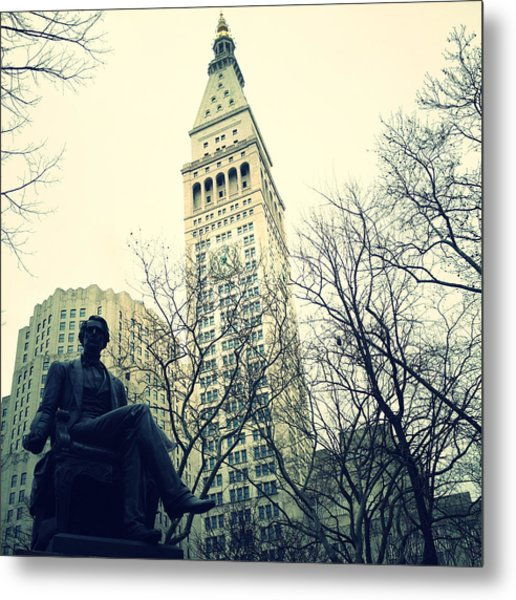 Met Life And Madison Square Park Metal Print