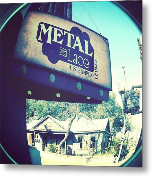 Metal And Lace Metal Print