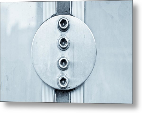 Metal Bolts Metal Print