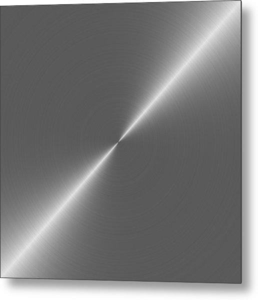 Metal Rough Circular Brushed Steel Aluminum Texture 2 Metal Print by REDlightIMAGE