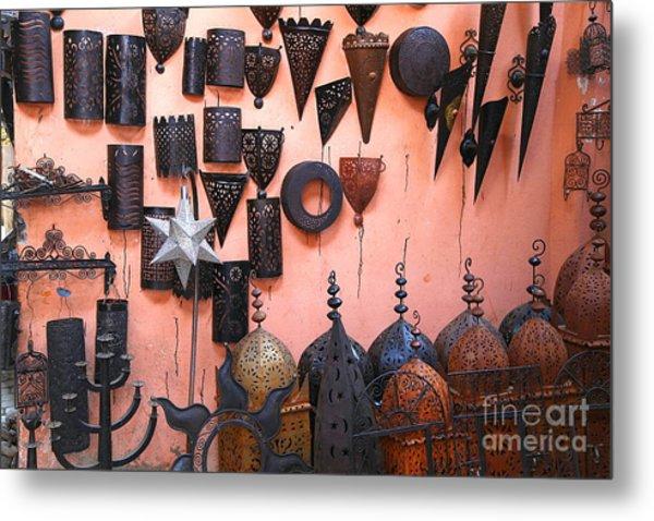 Metal Work Marrakesh Metal Print by Sophie Vigneault