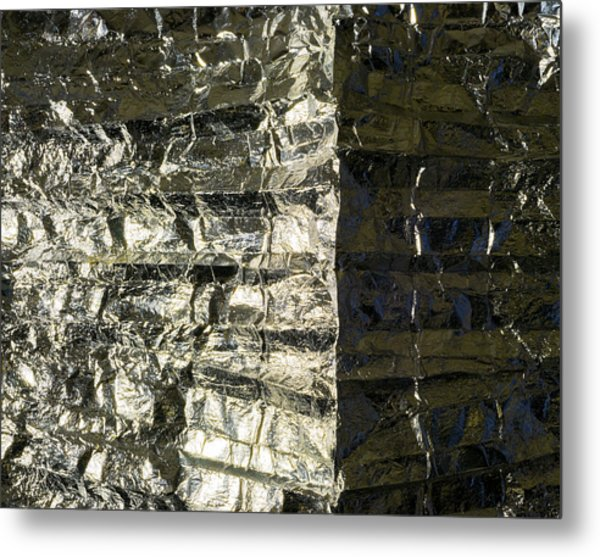 Metallic Reflection Metal Print