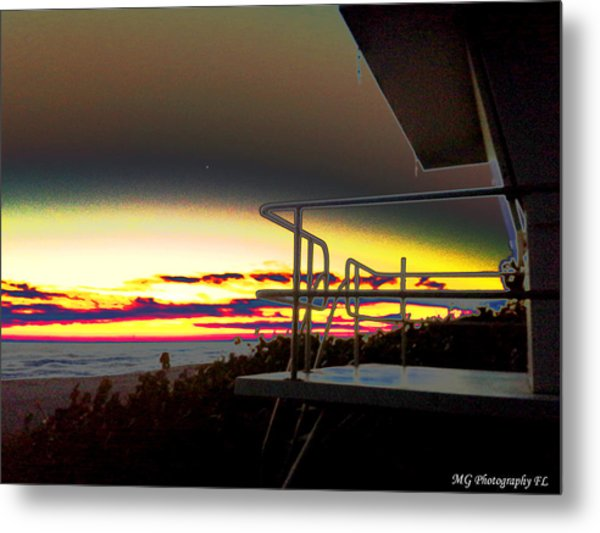 Metallic Sunrise Metal Print