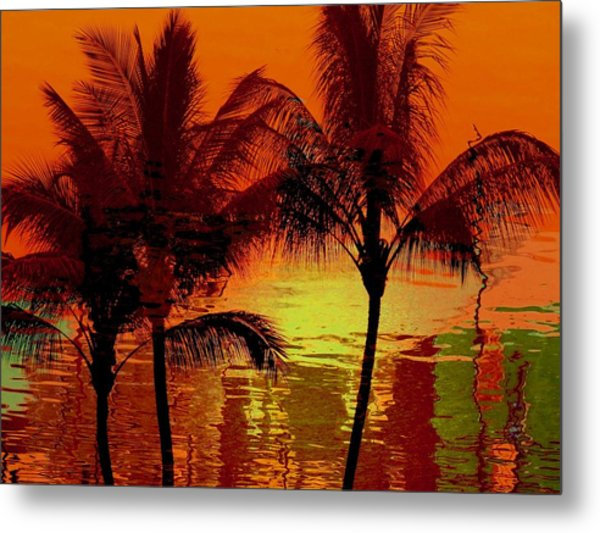 Metallic Sunset Metal Print