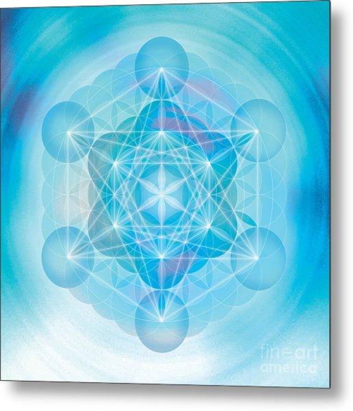 Metatron Mandala Metal Print by Soulscapes - Healing Art