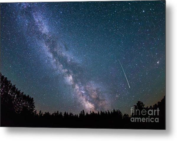 Meteor Milky Way  Metal Print