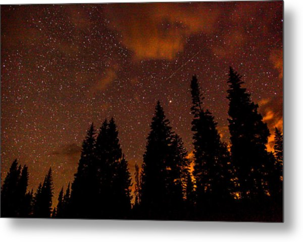 Meteor Shower Metal Print