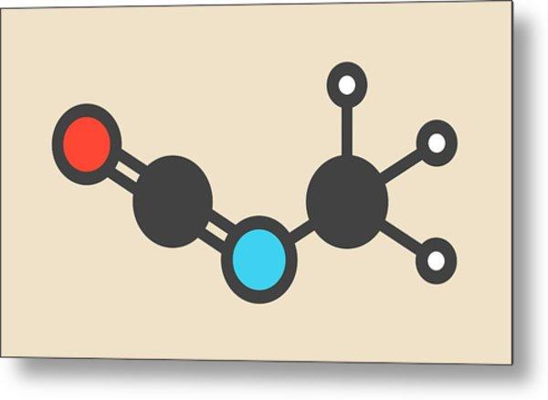 Methyl Isocyanate Toxic Molecule Metal Print by Molekuul