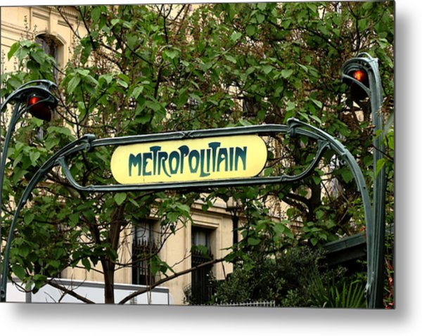 Metropolitain Metal Print by Carrie Warlaumont