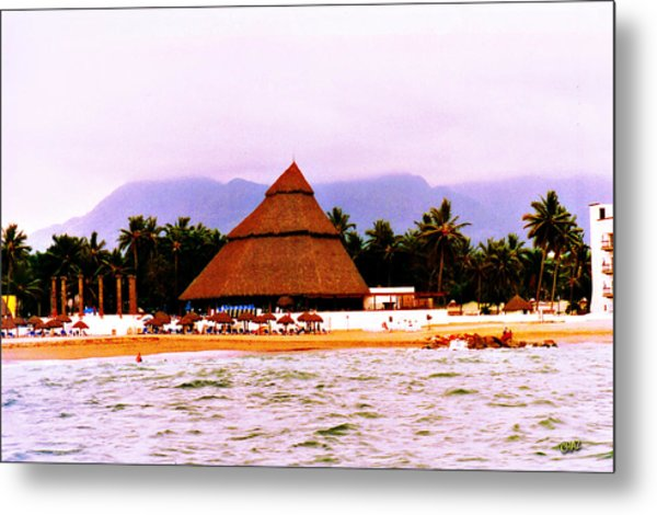 Mexican Beach Party Metal Print