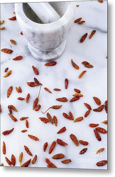 Mexican Chillies Metal Print by Geoff Kidd