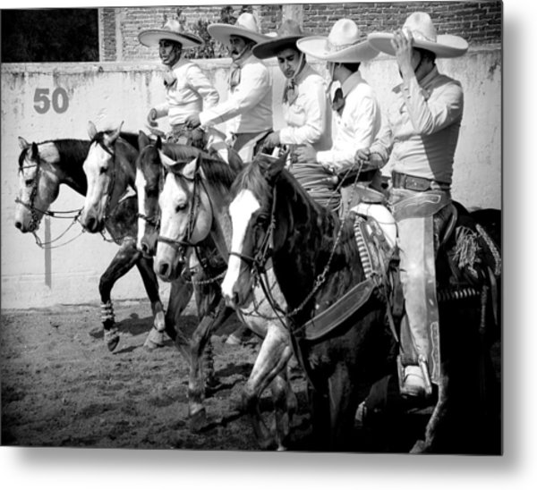 Mexican Cowboys Metal Print