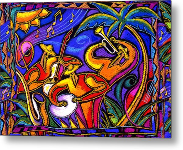 Latin Music Metal Print