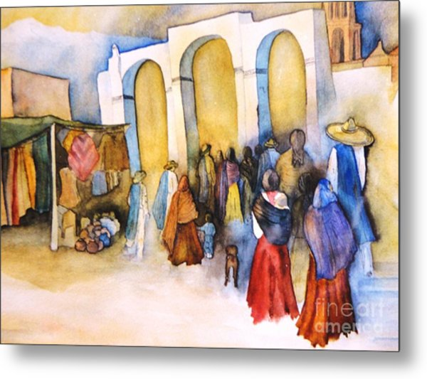 Mexican Prozession Metal Print