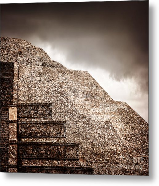Mexican Pyramid Metal Print