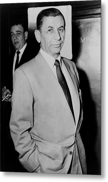 Meyer Lansky - The Mob's Accountant 1957 Metal Print