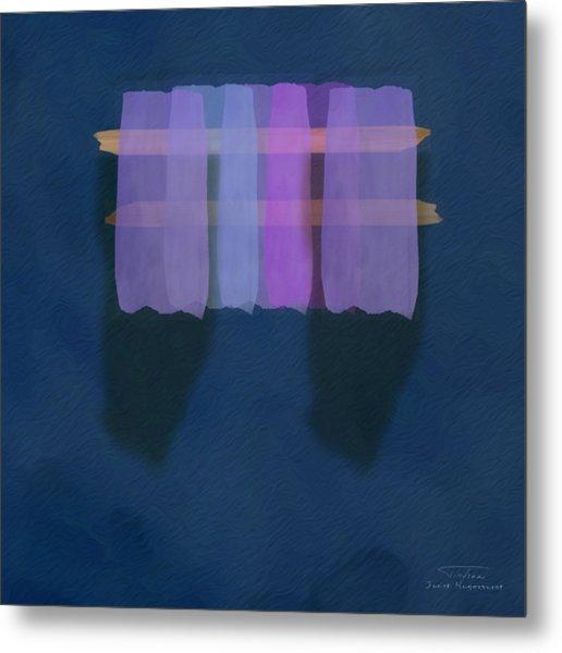 Mgl - Abstract Soft Blocks 01 I Metal Print