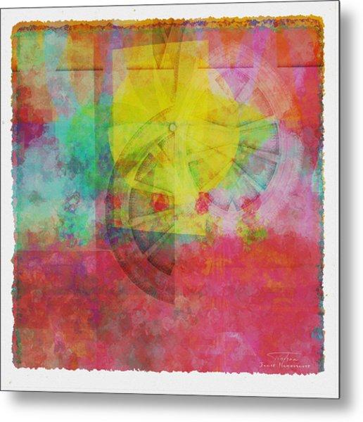 Mgl - Abstract Soft Smooth 01 Metal Print