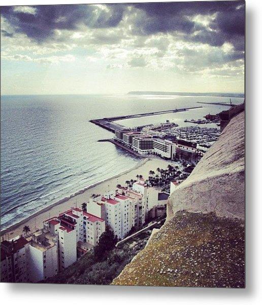 #mgmarts #spain #seaside #sea #view Metal Print