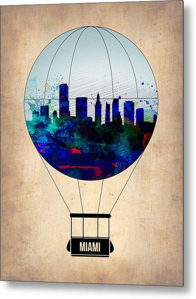 Miami Air Balloon Metal Print
