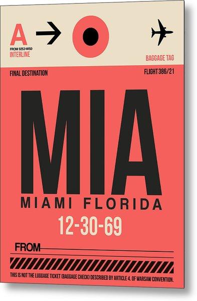 Miami Airport Poster 3 Metal Print