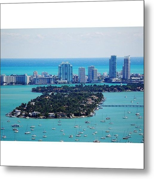 Miami Beach & Biscayne Bay Metal Print
