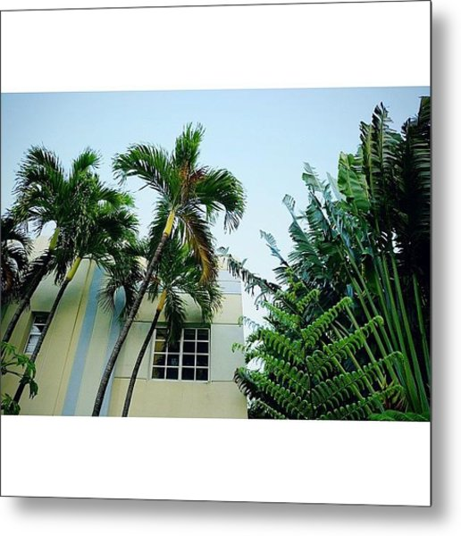{miami Beach's Art Deco}  In 1979 Metal Print